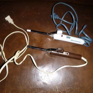 2 Vintage Small Curling Irons Both Work Get Hot!